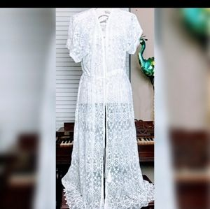 Beautiful white full lace cover up